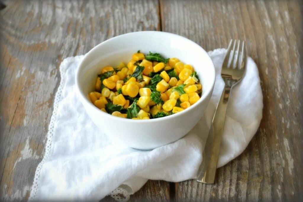 Frozen Kale and Corn Recipe